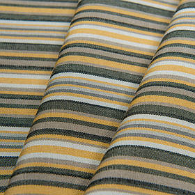 Ткань с водоотталкивающей пропиткой в тонкую полоску Дралон Javier Серый