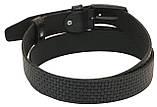 Мужской кожаный ремень под брюки Skipper 1039-35 черный ДхШ: 130х3,5 см., фото 3