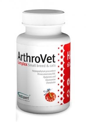 VetExpert ArthroVet  АртроВет для лікування суглобів малих порід собак і кішок, 60 капсул