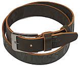 Мужской кожаный ремень под джинсы Skipper 1106-38 коричневый ДхШ: 116х3,8 см., фото 2