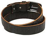 Мужской кожаный ремень под джинсы Skipper 1106-38 коричневый ДхШ: 116х3,8 см., фото 3