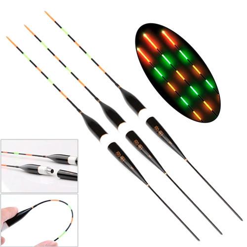 Набір з 3 світяться LED поплавців для нічної риболовлі