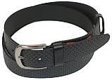 Мужской кожаный ремень под джинсы Skipper 1058-40 черный ДхШ: 148х4 см., фото 2