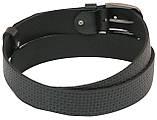 Мужской кожаный ремень под джинсы Skipper 1058-40 черный ДхШ: 148х4 см., фото 3