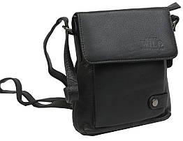 Невелика шкіряна сумка Always Wild 012NDM чорна