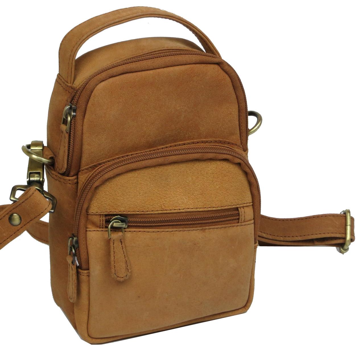 Небольшая кожаная сумка Always Wild LB06СH рыжий