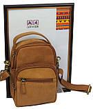 Небольшая кожаная сумка Always Wild LB06СH рыжий, фото 4