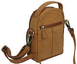 Небольшая кожаная сумка Always Wild LB06СH рыжий, фото 5