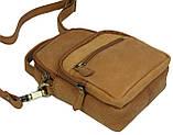 Небольшая кожаная сумка Always Wild LB06СH рыжий, фото 6