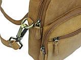 Небольшая кожаная сумка Always Wild LB06СH рыжий, фото 7