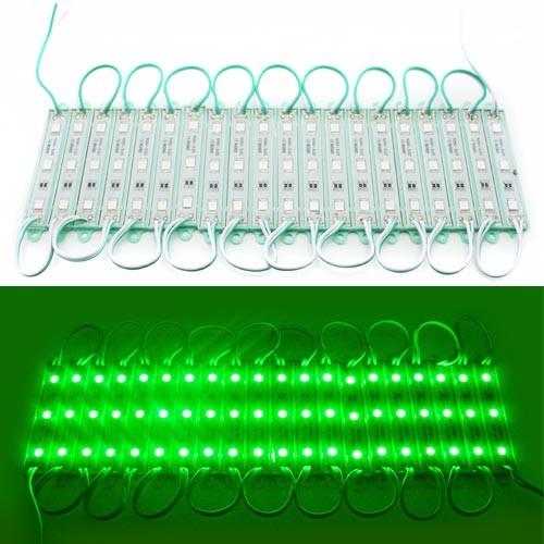 Светодиодный модуль из 3 LED 5050 светодиодов, IP67, зеленый