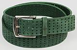Женский ремень из нубука Vanzetti, Германия, зеленый, 4 см, фото 2