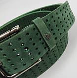 Женский ремень из нубука Vanzetti, Германия, зеленый, 4 см, фото 4