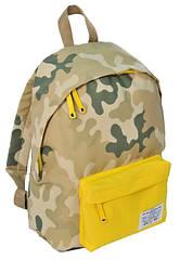 Городской рюкзак Paso CM-222E камуфляж/желтый 15 л