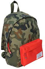 Рюкзак міський Paso CM-220A камуфляж/червоний 15 л