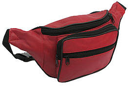 Шкіряна сумка на пояс Cavaldi 904-353 red, червоний