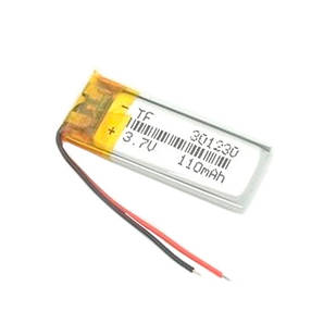 Аккумулятор 301230 Li-pol 3.7В 110мАч для MP3 Bluetooth наушников гарнитур