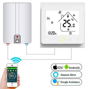 Терморегулятор Wi-Fi для газового котла 220В 3А BHT-002-GCLW, белый
