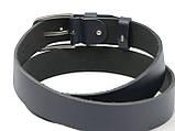 Ремень мужской кожаный под джинсы Skipper 1310-38 синий, фото 5