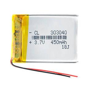 Аккумулятор 303040 Li-pol 3.7В 450мАч для RC моделей DVR GPS MP3 MP4