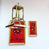 """Дизайнерский подвесной светильник """"Песочные часы"""" под золото, фото 2"""
