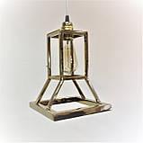 """Дизайнерский подвесной светильник """"Песочные часы"""" под золото, фото 4"""