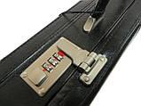 Мужской кейс-дипломат из эко кожи 4U Cavaldi A020425 чёрный, фото 3