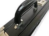 Мужской кейс-дипломат из эко кожи 4U Cavaldi A020425 чёрный, фото 4