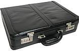 Мужской кейс-дипломат из эко кожи 4U Cavaldi A020425 чёрный, фото 7