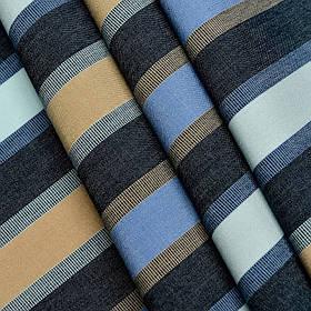 Ткань для уличной мебели в полоску Дралон Pau Синий