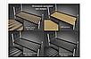 Кровать металлическая - Нарцис с деревянными ножками., фото 3