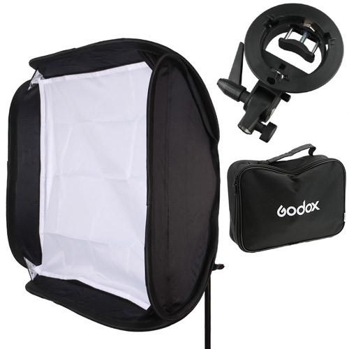 Софтбокс Godox 60х60см для вспышки, держатель S-type