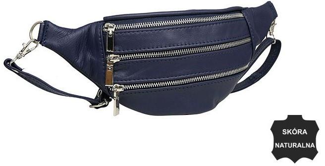 Женская кожаная поясная сумка, бананка Always Wild KS04D синий
