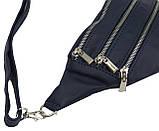 Женская кожаная поясная сумка, бананка Always Wild KS04D синий, фото 8
