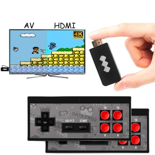 Игровая консоль беспроводная HDMI Dendy NES 8бит 568игр Data Frog Y2 HD