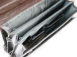 Портфель из эко кожи 4 отдела, Jurom, Польша 0-37-112 коричневый, фото 6