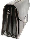Портфель из эко кожи 4 отдела, Jurom, Польша 0-37-112 коричневый, фото 9