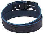Мужской кожаный ремень под джинсы Skipper 1115-40 синий ДхШ: 127х3,8 см., фото 3