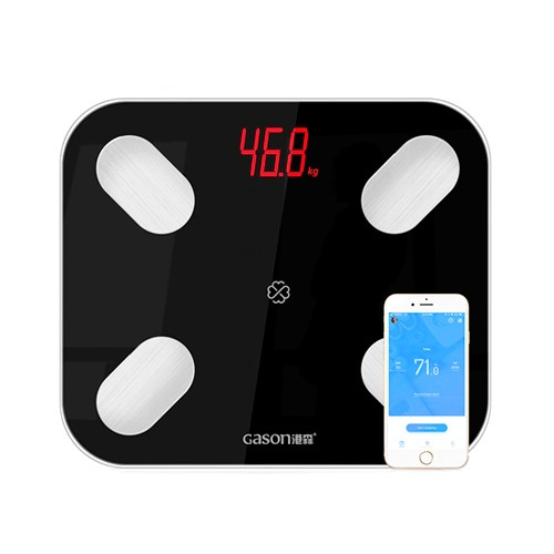 Смарт весы напольные Bluetooth Smart диагностические умные GASON S4, черные