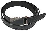Мужской кожаный ремень под брюки Skipper 1079-35 черный ДхШ: 132х3,5 см., фото 2