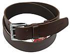Мужской кожаный ремень под джинсы Skipper 1154-45 коричневый ДхШ: 135х4,5 см., фото 2
