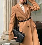 Сумка клатч жіноча стильна плетені модна. Сумочка трендова з плетінням (рожева), фото 4
