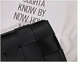 Модная маленькая женская сумка. Сумка клатч женская стильная плетеная модная. Сумочка женская (розовая), фото 8