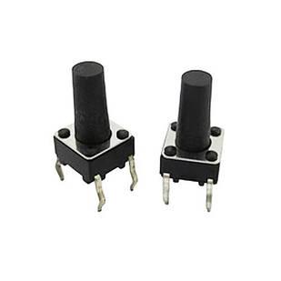 10x Кнопка тактовая, микрик, DIP 4 контакта, 6x6x10мм