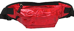 Голограмная поясна сумка зі шкірозамінника Loren SS112 red