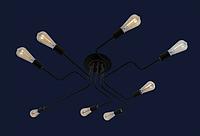 Люстра в стиле LOFT на 8 ламп L56PR0230-8 BK