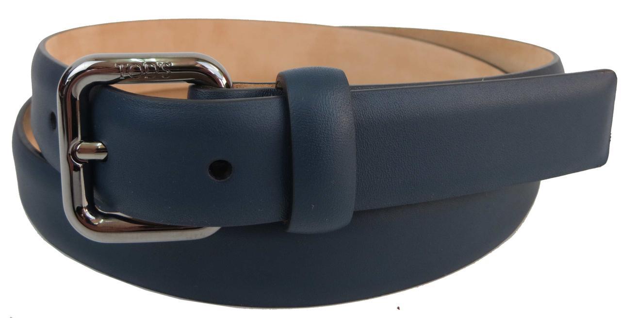 Женский кожаный ремень Tod's, Италия, S31C45 синий