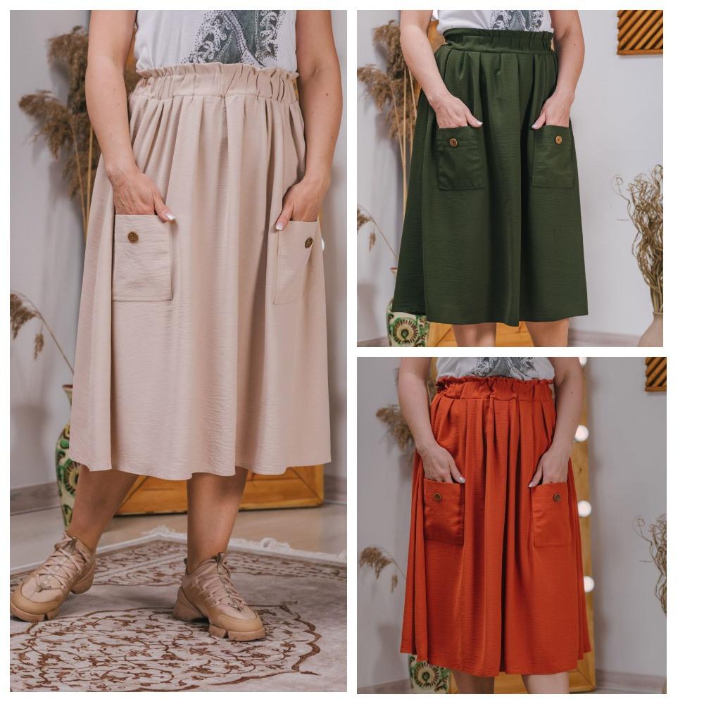 Прекрасной базой для повседневных образов в стиле casual станет эта замечательная юбка р.48,50,52,54 код 3418М