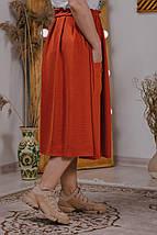 Прекрасной базой для повседневных образов в стиле casual станет эта замечательная юбка р.48,50,52,54 код 3418М, фото 3