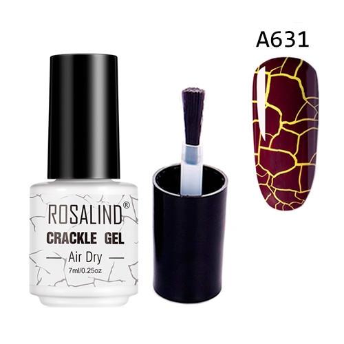 Гель-лак для ногтей маникюра 7мл Rosalind, кракелюр, А631 марсала